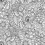 svart seamless white för bakgrund Blom- etniskt, hand drog beståndsdelar för design Vektor Illustrationer