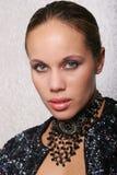svart sexig kvinna Royaltyfri Foto