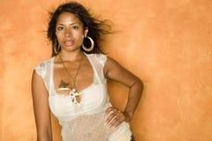 svart sexig kvinna Arkivfoto