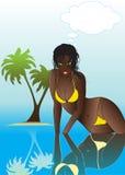 svart sexig vektorkvinna Arkivfoton