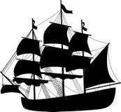 svart ship 3 Arkivbilder