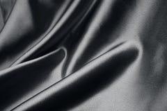 Svart silk Royaltyfria Bilder