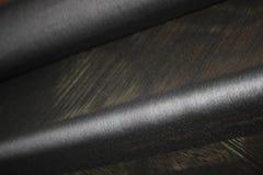 Svart silke vävde tyger Royaltyfri Foto