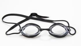 svart simma för goggles Fotografering för Bildbyråer