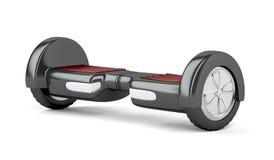 Svart själv som balanserar sparkcykeln stock illustrationer