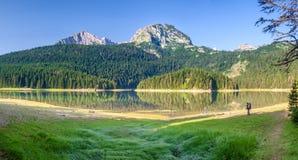 Svart sjö Durmitor Fotografering för Bildbyråer