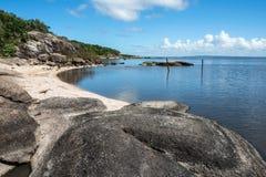 Svart sjö i den Rocha avdelningen av Uruguay Arkivfoto