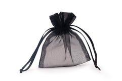 svart skjuten closeupgåvasäck Royaltyfria Bilder