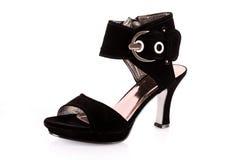 svart sko Royaltyfri Foto