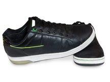 svart skodonläder Arkivbilder
