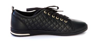 svart skosport Royaltyfri Bild