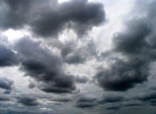 svart sky Arkivfoto