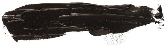 Svart slaglängd för borste för fläck för oljatexturmålarfärg, royaltyfri illustrationer