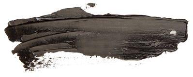 Svart slaglängd för borste för oljatexturmålarfärg stock illustrationer