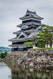 Svart slott, Matsumoto, Japan Fotografering för Bildbyråer