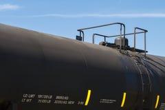 Svart slut för järnvägtankfartygbil upp Royaltyfri Bild