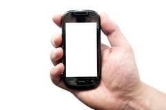 Svart smartphone Arkivfoton
