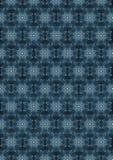 Svart sömlös bakgrund med en förbi blå oval prydnad Arkivbilder