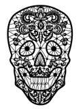 Svart snör åt skallen royaltyfri illustrationer