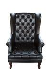svart sofa Fotografering för Bildbyråer