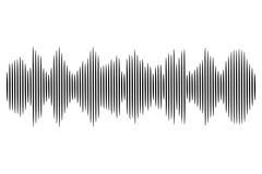 Svart solid våg Ljudsignal teknologiillustration för vektor Royaltyfri Fotografi