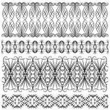 Svart specificerad klippning- eller gränssamling vektor illustrationer