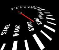 Svart speedometer Arkivfoton