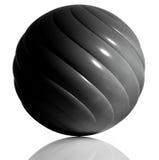 Svart sphere. Royaltyfri Bild