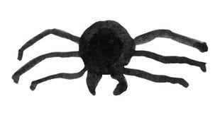 Svart spindel för vattenfärg för ferien av allhelgonaaftonen stock illustrationer