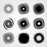 Svart spiral virveluppsättning Royaltyfri Foto