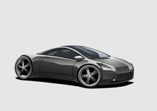 svart sportscar vektor illustrationer
