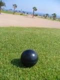 svart ställeutslagsplats för boll arkivfoto