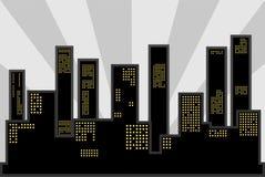 svart stad Arkivfoton