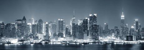 svart stad manhattan nya vita york Royaltyfri Foto