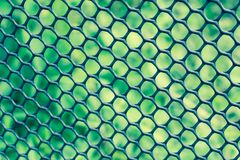 Svart staketslut upp med grön bakgrund, texturbakgrund royaltyfri foto