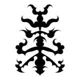 Svart stam- tatueringprojekt Royaltyfri Illustrationer