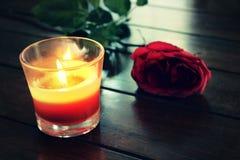 svart stearinljus Royaltyfria Foton