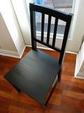 svart stol Fotografering för Bildbyråer