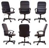 svart stol isolerad kontorswhite Fotografering för Bildbyråer