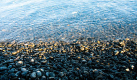Svart strand Royaltyfria Bilder