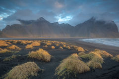 Svart strand Arkivbilder