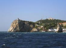 svart svala ukraine för hav för slottcrimea rede s Royaltyfri Foto