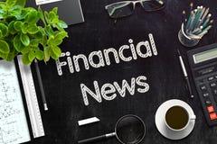 Svart svart tavla med finansiell nyheterna framförande 3d Arkivbild