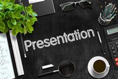Svart svart tavla med presentationsbegrepp framförande 3d Royaltyfria Foton