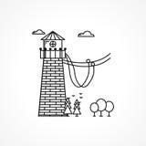 Svart symbol för repbanhoppningtorn Royaltyfria Foton