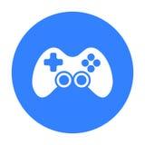 Svart symbol för kontrollant Illustration för rengöringsduk och mobil design Royaltyfri Bild