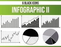Svart symbolsuppsättning Infographic II vektor illustrationer