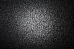 Svart syntetiskt läder Arkivfoton