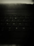 Svart tangentbord arkivbild