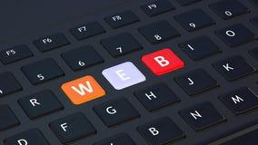 Svart tangentbord med ordet RENGÖRINGSDUK royaltyfri illustrationer